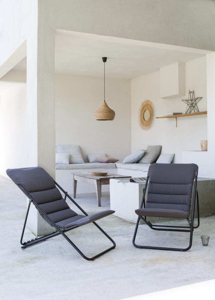 lafuma bubble relaxliege ardoise 7720 gartenm bel. Black Bedroom Furniture Sets. Home Design Ideas
