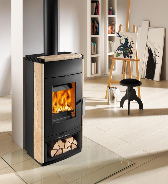 haas sohn kaminofen montegrotto ii woodstone 7 0 kw kamin fen. Black Bedroom Furniture Sets. Home Design Ideas