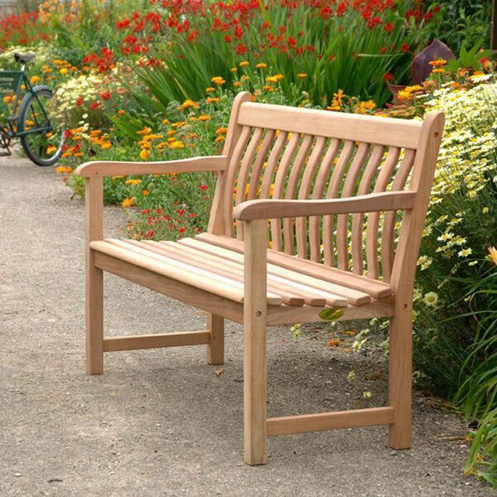 alexander rose mahagoni broadfield 2er bank gartenm bel. Black Bedroom Furniture Sets. Home Design Ideas