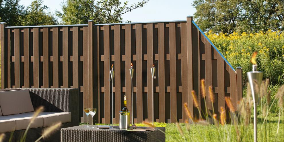 zaun traumgarten jumbo wpc braun. Black Bedroom Furniture Sets. Home Design Ideas