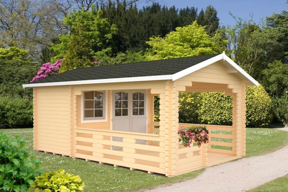 gartenhaus holz mit terrasse – bizfast, Moderne