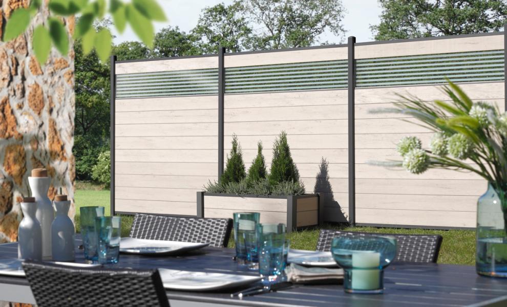zaun traumgarten system wpc sand. Black Bedroom Furniture Sets. Home Design Ideas