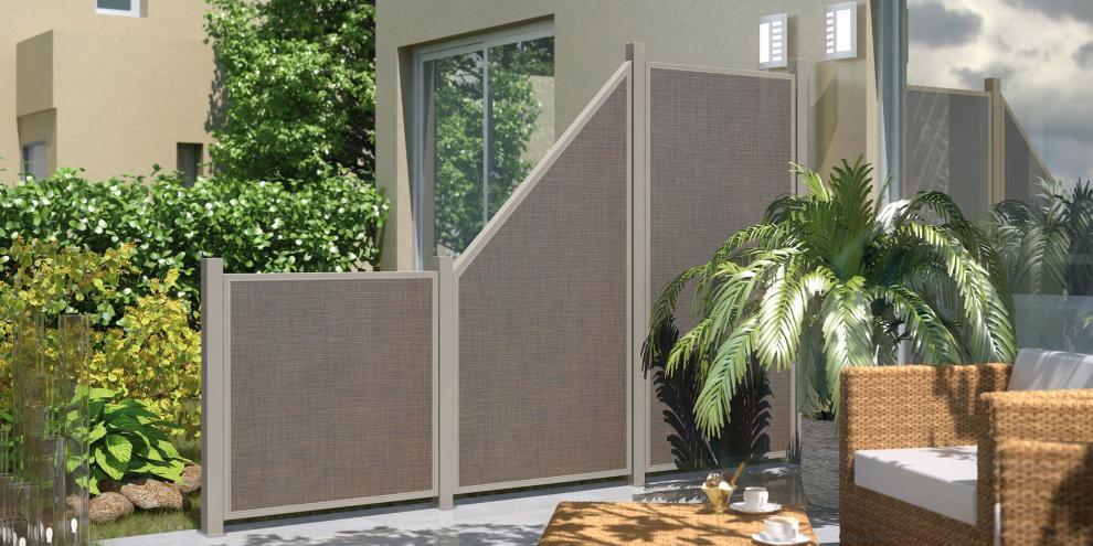 Zaun traumgarten weave l x bronze - Terrassen abtrennung ...