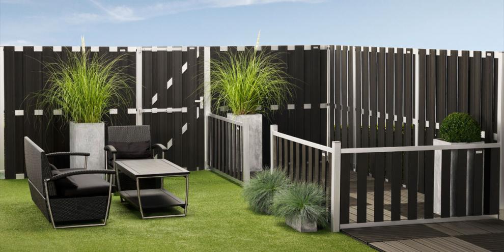 zaun elephant design anthrazit silber. Black Bedroom Furniture Sets. Home Design Ideas