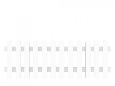 Groja Vorgartenzaun-Element gerade 180 x 63cm 4250260901050