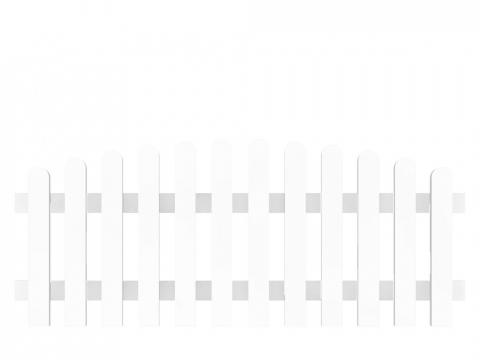 Groja Vorgartenzaun-Element Bogen oben 180 x 63-74cm 4250260901074