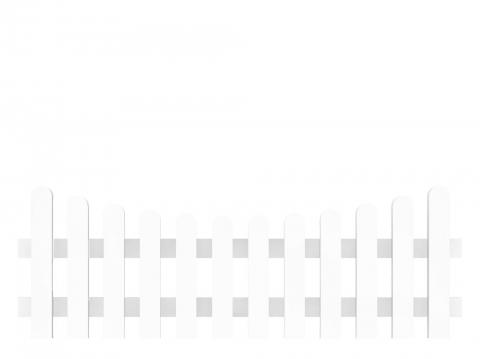 Groja Vorgartenzaun-Element Bogen unten 180 x 63-51cm 4250260901067