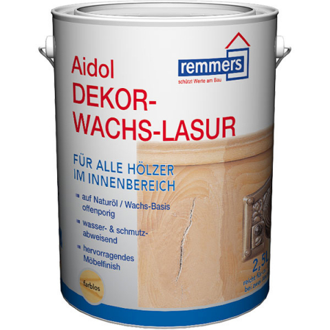 Remmers Aidol Dekorwachs-Lasur 2,5 Liter Farbton: Farblos 22,36 EUR/L; 4004707019873