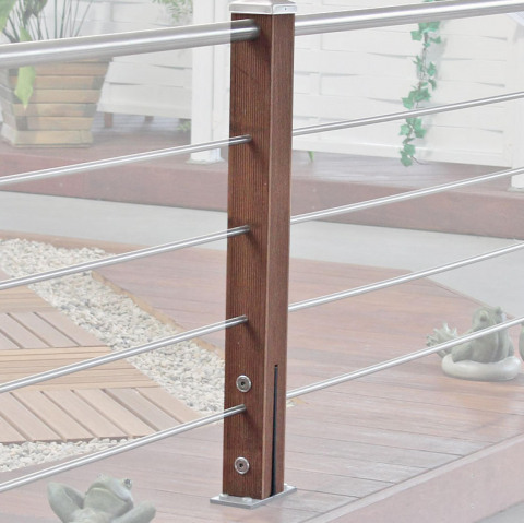 Braun-Würfele Mittelpfosten Tubo inox 93cm Ausführung: Kiefer imprägniert 39,68 EUR/lfm;