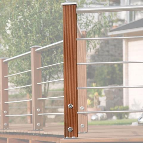 Braun-Würfele Endpfosten Tubo inox 93cm Ausführung: Kiefer imprägniert 31,72 EUR/lfm;