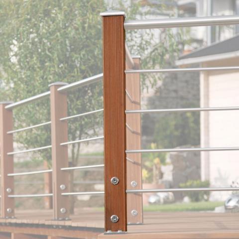 Braun-Würfele Eckpfosten Tubo inox 93cm Ausführung: Kiefer imprägniert 44,89 EUR/lfm;