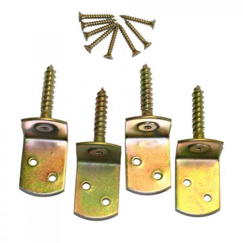 Mesem Zaunbeschlag galvan. 4er-Set 0,57 EUR/Stk; 8715893038444