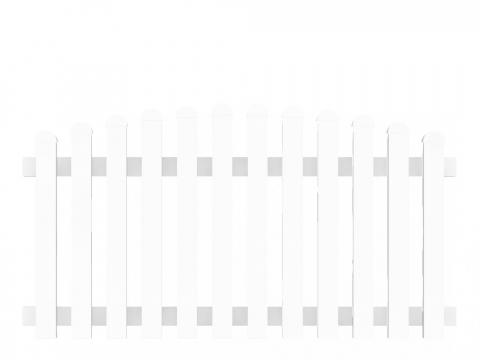 Groja Vorgartenzaun-Element Bogen oben 180 x 90-101cm 4250260999583
