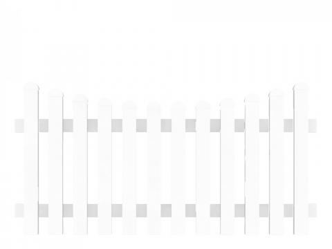 Groja Vorgartenzaun-Element Bogen unten 180 x 90-78cm 4250260999576