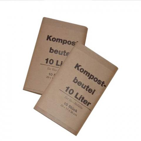 Noor Papier-Kompostbeutel 10 Liter 10er Pack 0,15 EUR/Stk; 4004034109193