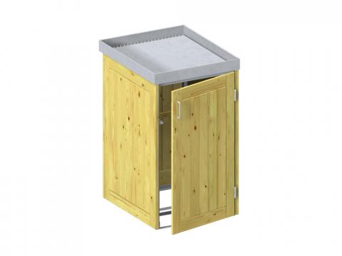 Traumgarten Binto Mülltonnenbox Nadelholz mit Pflanzschale 4033821032390