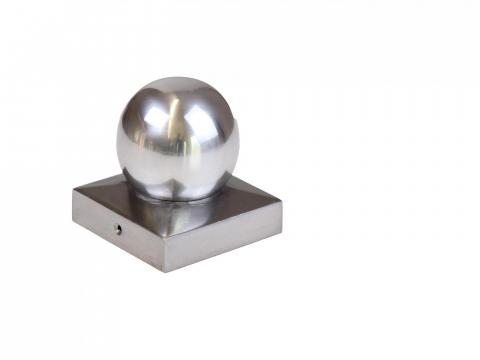 Mesem Pfostenkappe Kugelform Simon Aluminium 90x90mm
