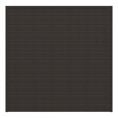 GrojaSombra WPC Zaunfeld-Set black 180x180 Graphite Black 4250260961603