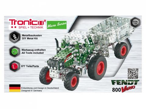 Tronico Micro Series Fendt 800 Vario Traktor mit Kippanhänger 4047385095203