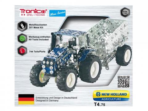 Tronico Mini Series New Holland T4 Traktor mit Kippanhänger 4047385100563