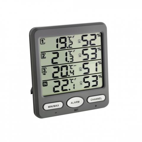 Florino Funk Thermo-Hygrometer, groß
