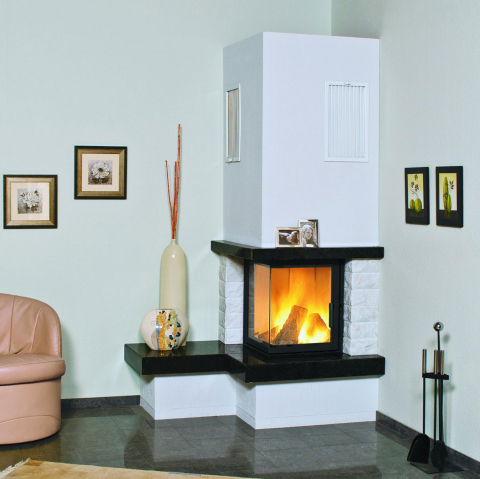 Hark 5kW Nebraska links Granit naturschwarz - externe Verbrennungsluftzufuhr 4040396018872