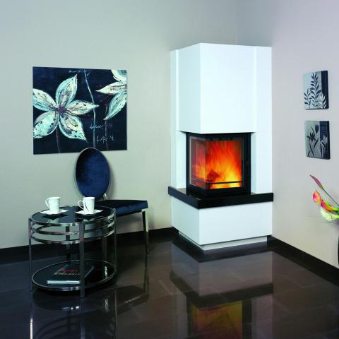 Hark Kaminbausatz 8kW Easy 500 Sims Granit naturschwarz - externe Verbrennungsluftzufuhr 4040396016861
