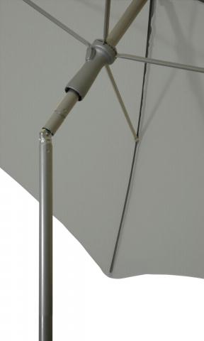 Zangenberg Ibiza Sonnenschirm D:200cm, Grau 4004365179384