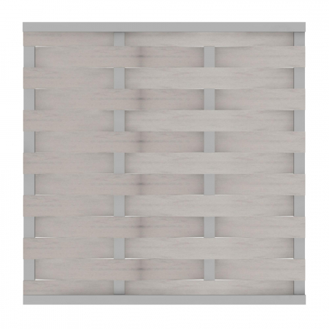 GrojaSolid BPC Flechtzaun 180x180cm Bi-Color Weiß
