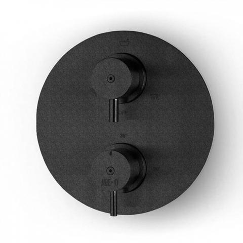 JEE-O Slimline black Unterputz Einbauarmatur mit Thermostat