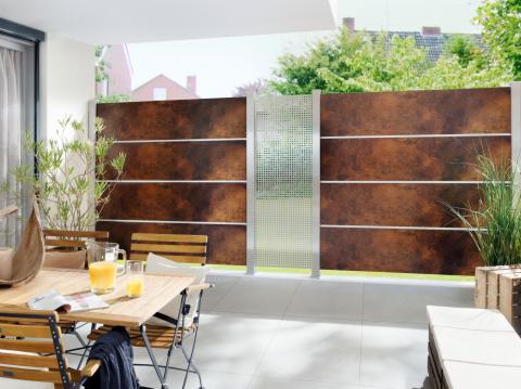 Traumgarten System Board XL rost, Design Gamma Zaunanlage