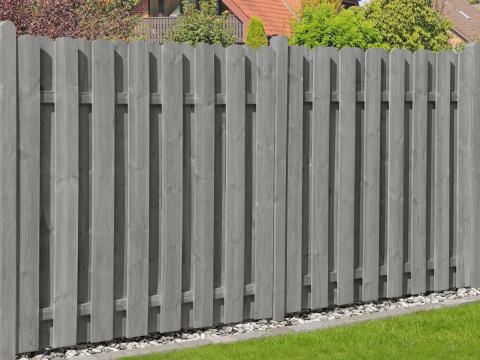 Delta Zaun Bohlen-Zaunreihe kdi grau