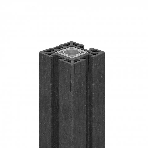 GrojaSolid Steckzaun Torpfosten anthrazit, 10x10x190cm zum Aufschrauben auf Betonfundament 4250260964680