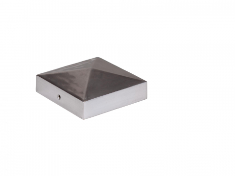 Mesem Pfostenkappe Pyramidenform Aluminium 90x90mm