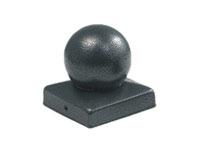 Mesem Pfostenkappe Silber-Antik Kugelform 70x70mm