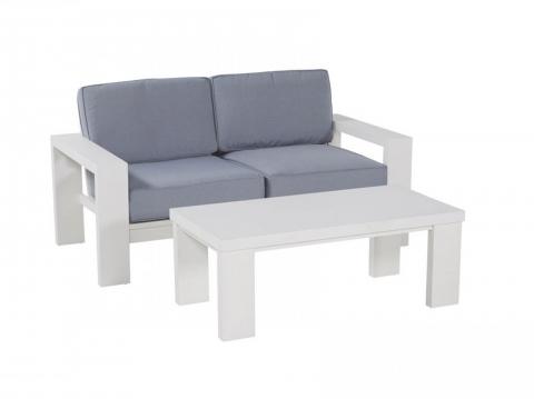 Hartman Möbel Hartman Titan 2-Sitzer mit Kaffeetisch, weiß 8711268501803