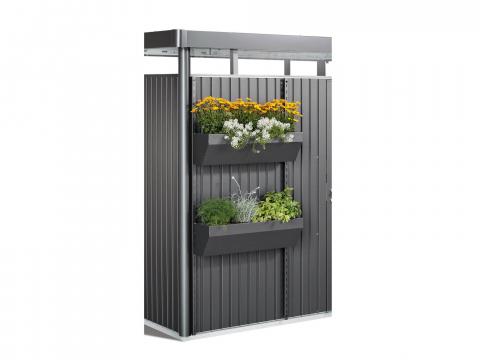 Biohort Flora Board für Gerätehaus HighLine, Panorama, AvantGarde Ausführung: quarzgrau