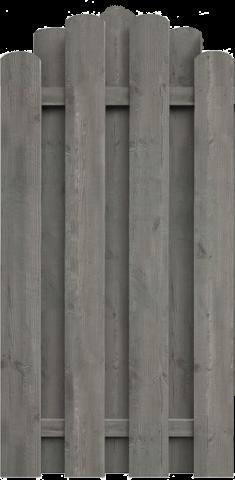 Delta Zaun Bohlenzaun kdi grau 90x180-160 5900236511965