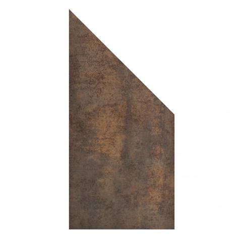 GroJa Stone Fence Keramik Rostoptik schräg 90x180-90cm 4250260966356