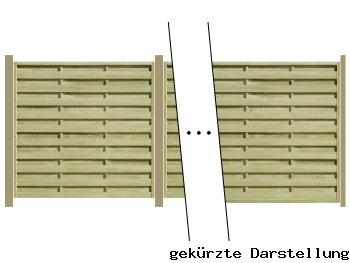 Delta Zaun 9,59m Dichtzaun Eco mit 9er Pfosten und H-Ankern zum Einbetonieren - ME27187