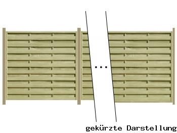 Delta Zaun 5,71m Dichtzaun Eco mit 7er Pfosten und Einschlaghülsen - ME27185