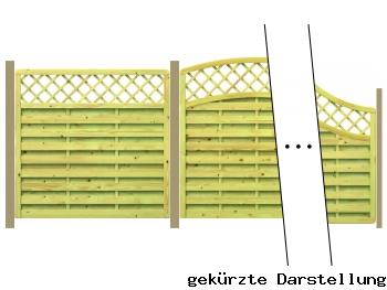 Traumgarten 6,75m Zaun Gada XL - ME29086