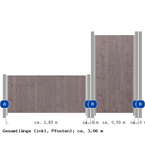 4 92m zaun groja premo glas me32735 zaun. Black Bedroom Furniture Sets. Home Design Ideas