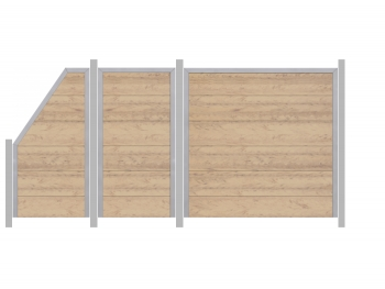 Traumgarten 3,94m Zaun Design WPC Alu sand - ME32977