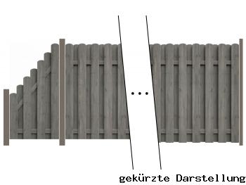 Delta Zaun 4,89m Bohlenzaun kdi grau - ME47153