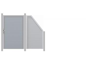 Traumgarten 2,47m Design Rhombus mit Tor - ME51457