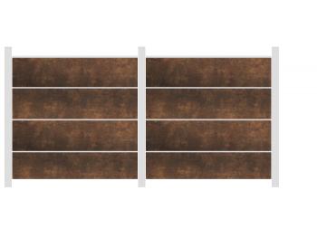 3,81m Groja Premo Steckzaun rostfarben - ME55913
