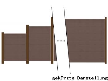 5,07m Zaun GroJa Sombra Tropical Brown - ME30827