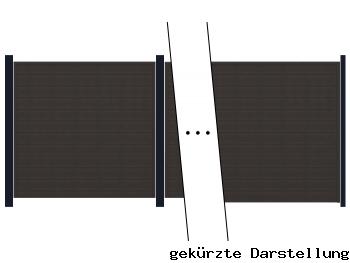 4,95m Zaun GroJa Sombra Graphite Black - ME30811