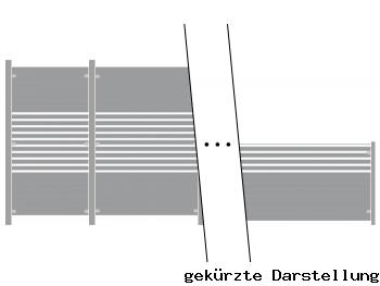 5,22m Zaun GroJa Ambiente aus Glas - ME30792